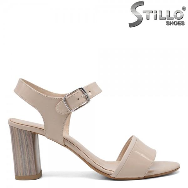 Sandale piele cu toc inalt - 30345
