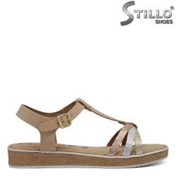 Sandale model Tamaris de culoare bej cu talpa dreapta - 30380