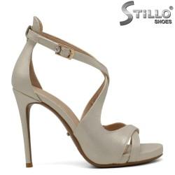 Sandale dama de culoare auriu  perlat - 30390