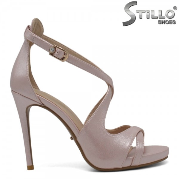 Sandale elegante de culoare roz perlat - 30392
