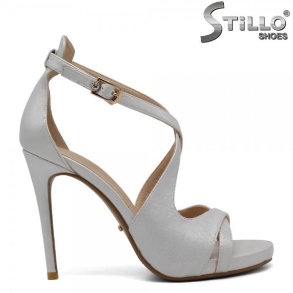 Sandale dama culoare argintiu-perlat - 30394