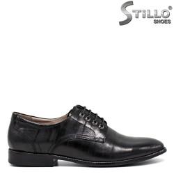 Pantofi de dama  de culoare negru cu sireturi=30400