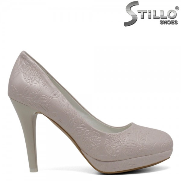 Pantofi de dama de culoare roz deschis pe toc inalt - 30408