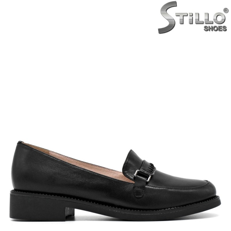 Pantofi de dama din piele naturala de culoare negru - 30419