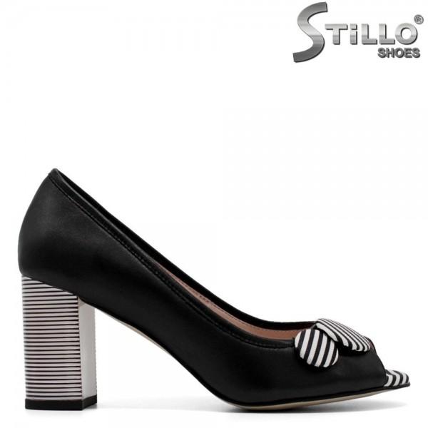 Pantofi decupati din piele naturala - 30422