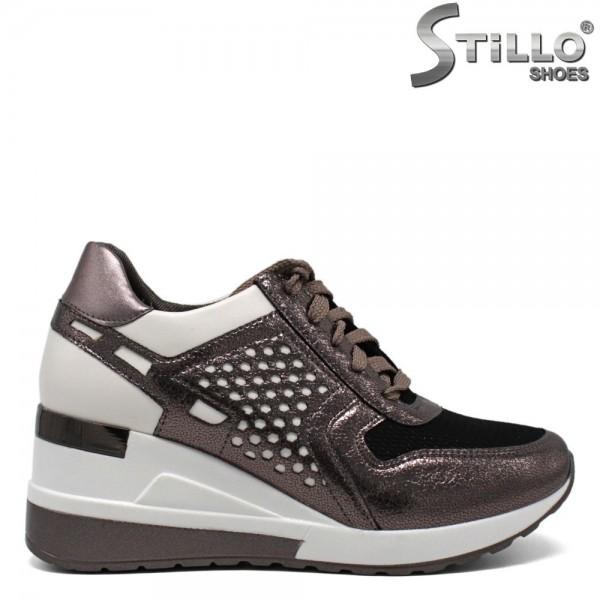 Pantofi tip sport de culoare bronz - 30425