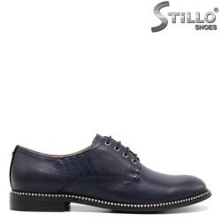 Pantofi de dama de culoare albastru din piele naturala - 30447