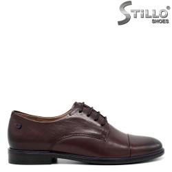 Pantofi  Oxford  din piele de culoare bordo - 30455