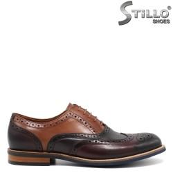 Pantofi barbatesti cu perforatie in trei culori - 30465