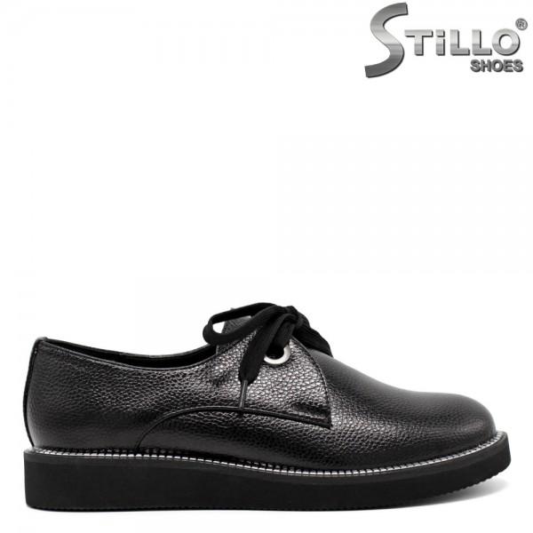 Pantofi talpa dreapta cu accent metalic - 30467