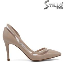 Pantofi de dama bej lac cu silicon - 30475