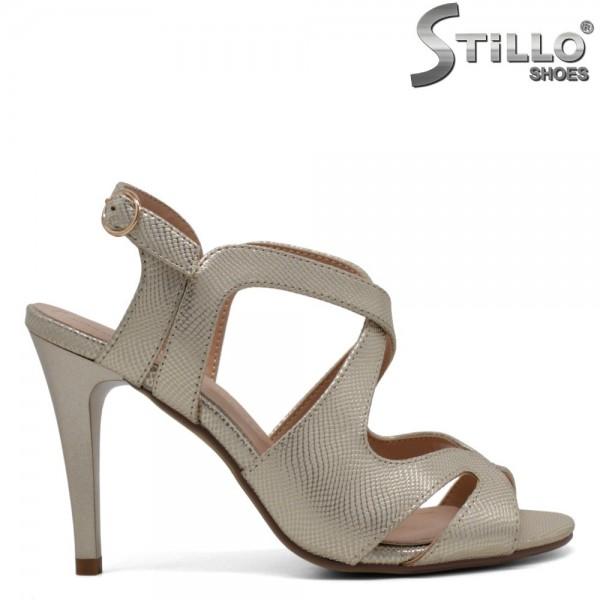 Sandale aurii cu toc inalt - 30512
