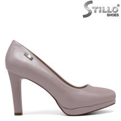 Pantofi eleganti de culoare roz perlat cu toc inalt - 30521