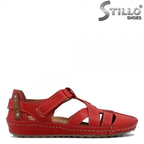 Pantofi de culoare rosu din piele naturala - 30560