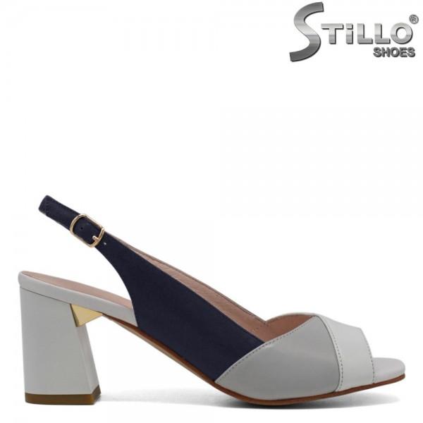 Sandale de dama in trei culori cu toc gros - 30576