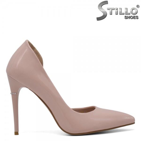 Pantofi asimetrici eleganti de culoare roz - 30582