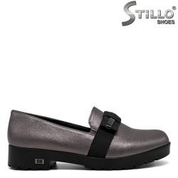 Pantofi argintii cu funda ,marimi mici incapand  de la nr 33 - 30590