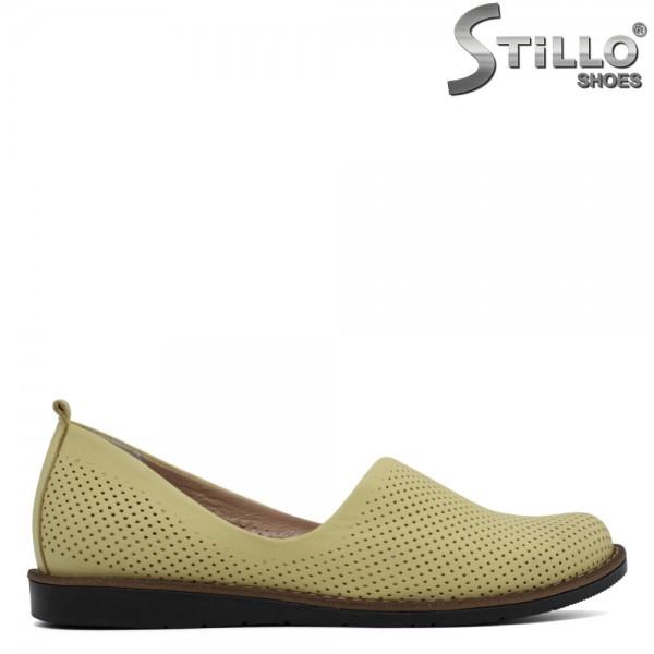 Pantofi galbeni piele de zi cu zi - 30619