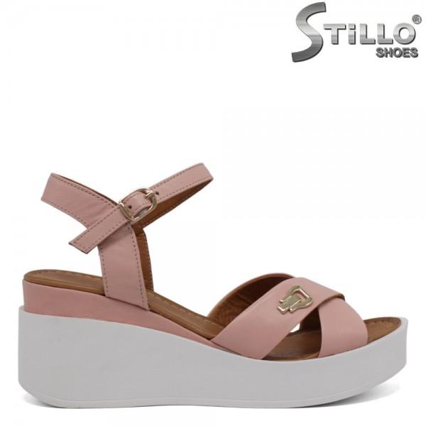 Sandale roz cu platforma, marimi mici de la nr 34 - 30621