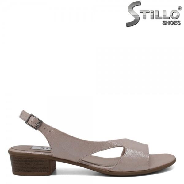 Sandale dama roz sidefat piele naturala - 30625