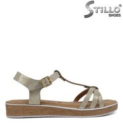 Sandale dama din piele aurii marca TAMARIS - 30639