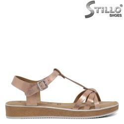 Sandale Tamaris din piele naturala roz - 30640