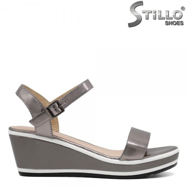 Sandale bronz cu platforma - 30644
