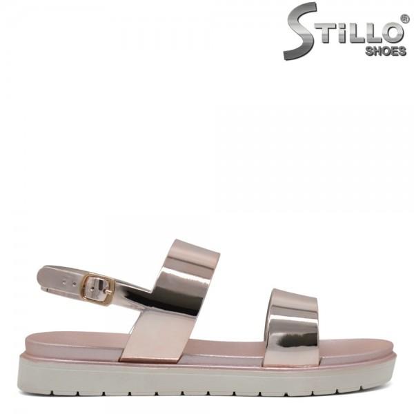 Sandale roz-cupru cu talpa dreapta - 30650