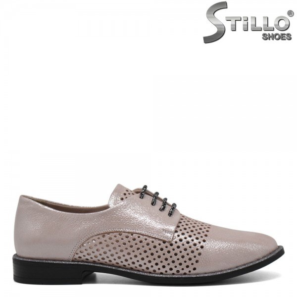 Pantofi piele naturala de vara cu perforatie - 30697