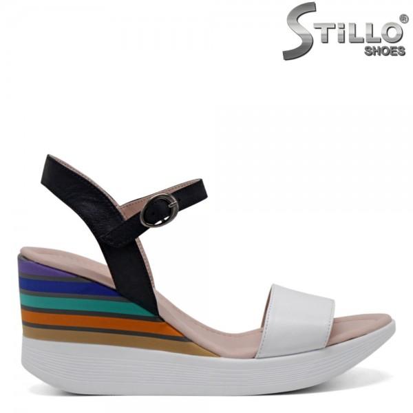 Sandale piele cu platforma - 30702