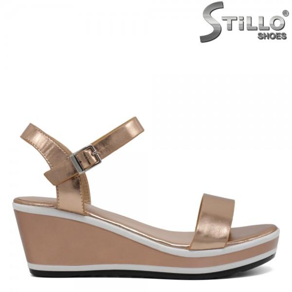 Sandale dama roz aurii pe platforma - 30704