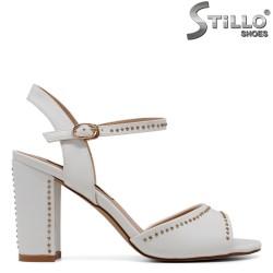 Sandale cu capse si toc inalt - 30713