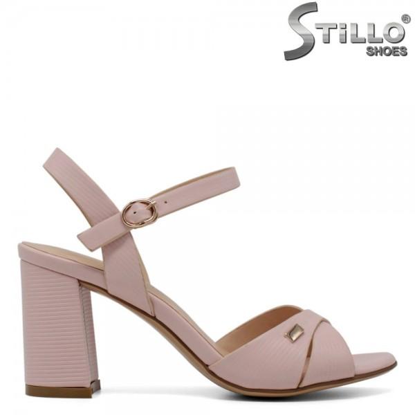 Sandale roz cu toc inalt - 30723