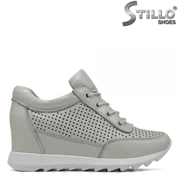 Pantofi sport cu perforatie si sireturi - 30744