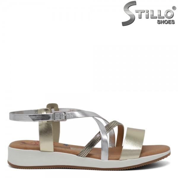 Sandale dama piele cu trei bentite - 30752