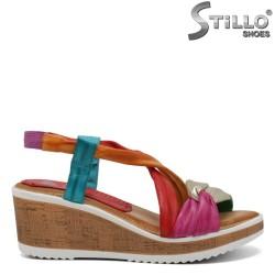 Sandale piele MARILA cu platforma si talpa dreapta - 30753
