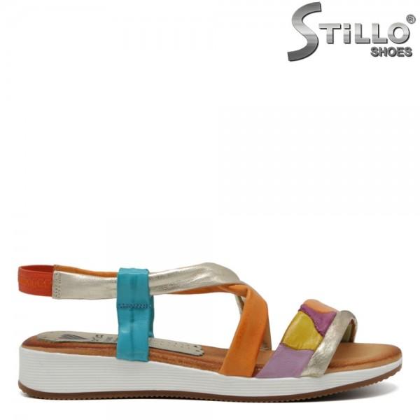 Sandale dama multicolorate piele - 30759