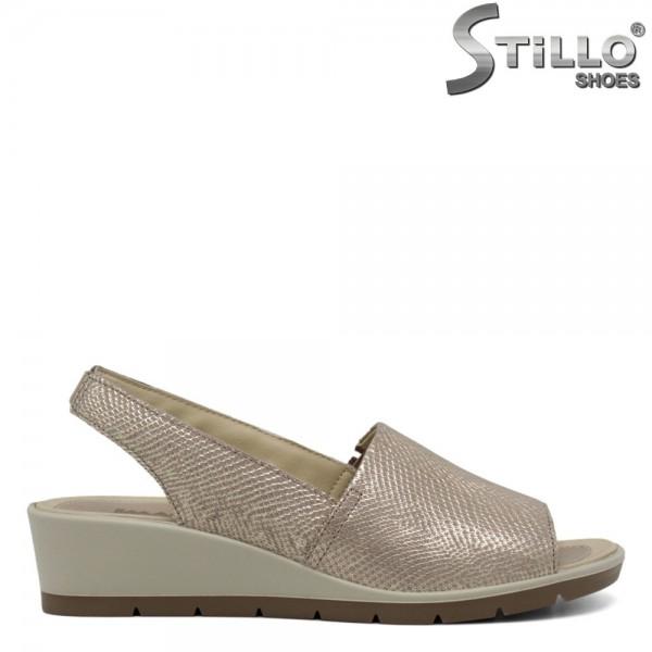 Sandale piele cu platforma mica - 30764