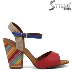 Sandale  piele  pe toc inalt - 30765