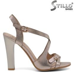 Sandale dama aurii cu toc  inalt - 30806