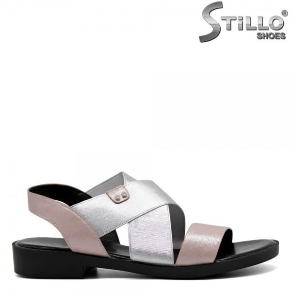 Sandale dama argintii roz - 30808