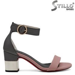 Sandale dama cu toc metalic - 30814