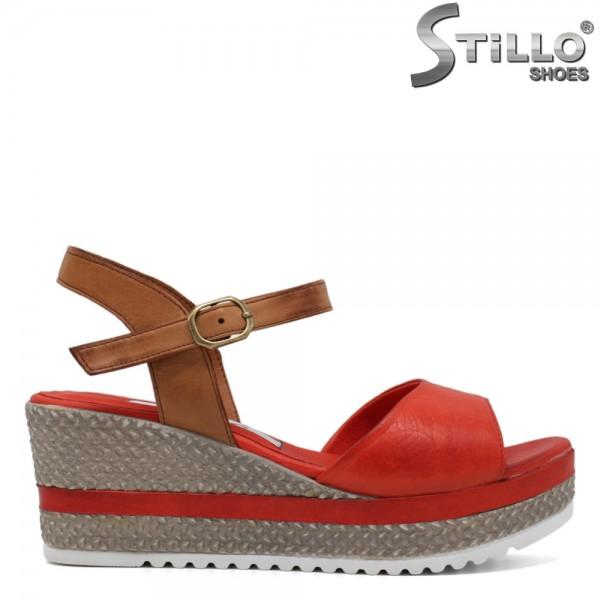 Sandale dama piele cu platforma - 30832