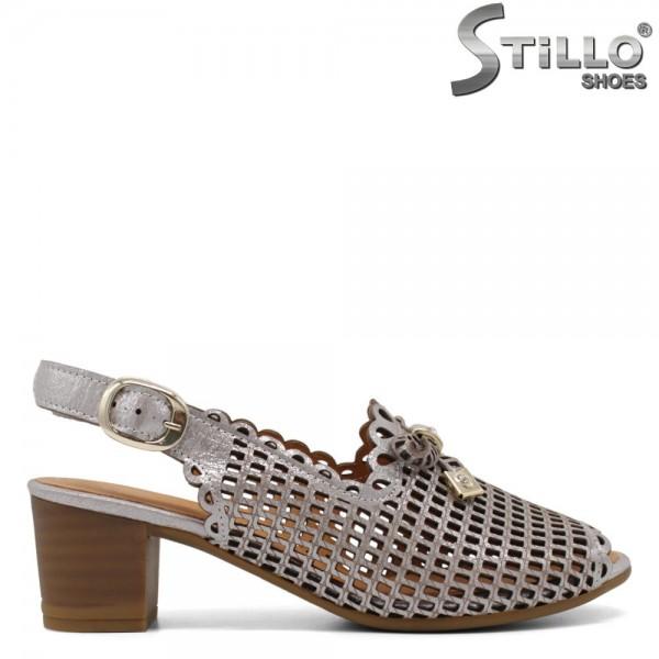 Sandale argintii piele naturala - 30838