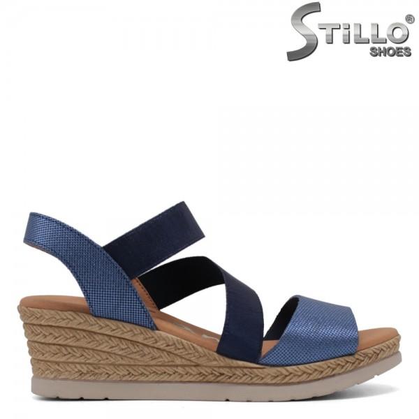 Sandale dama piele naturala cu platforma inalta - 30868