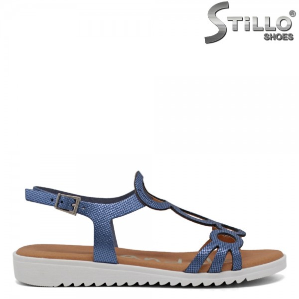 Sandale dama albastre piele naturala - 30869