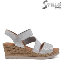 Sandale piele cu platforma - 30870