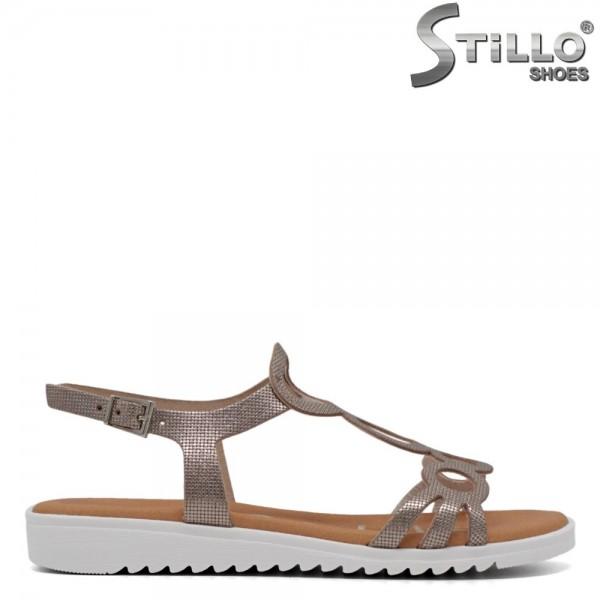 Sandale dama bronz din piele - 30873