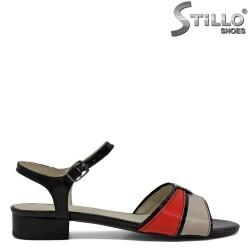 Sandale dama piele naturala si lac - 30874
