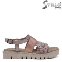 Sandale dama roz piele naturala - 30881